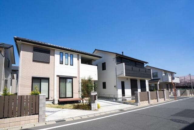 新興住宅街の町並み